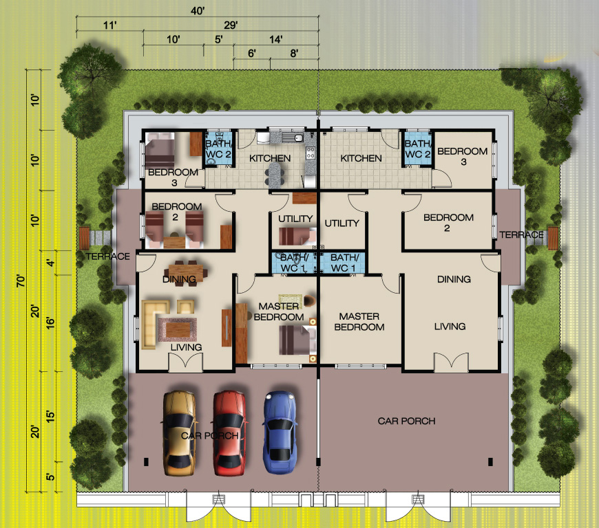 Single Storey Semi D House Design House And Home Design
